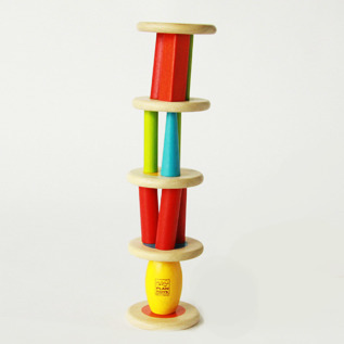 Wooden Toy Tower stacking