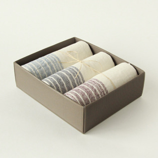 Flax line guest towel set