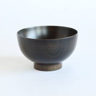 Colored lacquer bowl Urushi Black