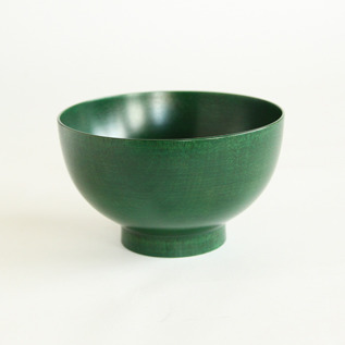 Colored lacquer bowl Urushi Green