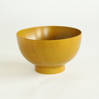 Colored lacquer bowl Urushi Yellow