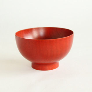 Colored lacquer bowl Urushi Red