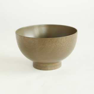 Colored lacquer bowl Urushi Grey