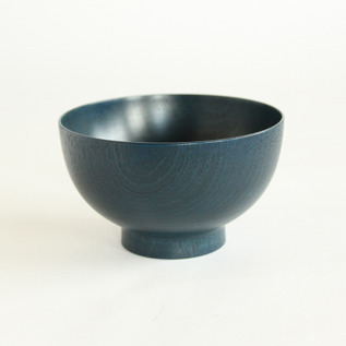 Colored lacquer bowl Urushi Blue
