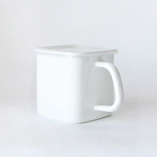 Porcelain Enamel Container square type with handles