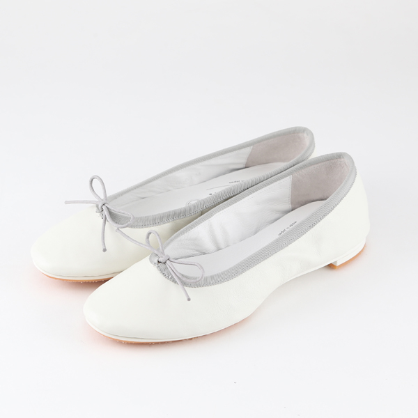 TRAVEL SHOES WATERPROOF BALLET FLATS WHITE AND GREY