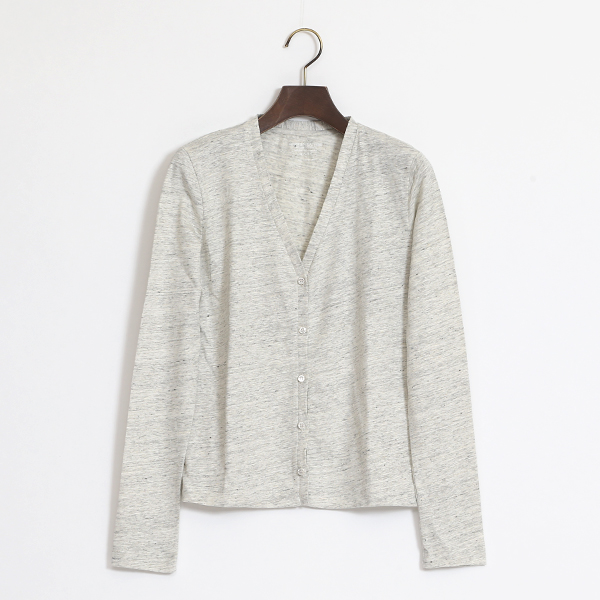 STRETCH LINEN V CARDIGAN
