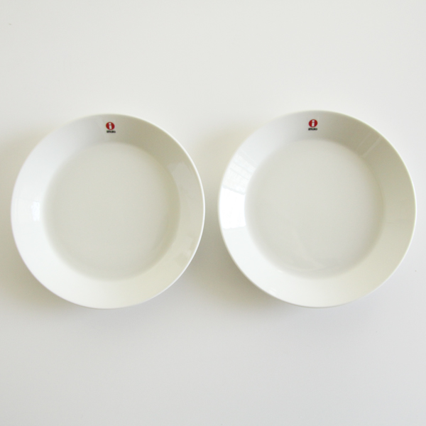 Teema plate 17cm pair set white
