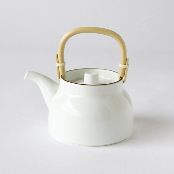 Basic earthenware teapot white
