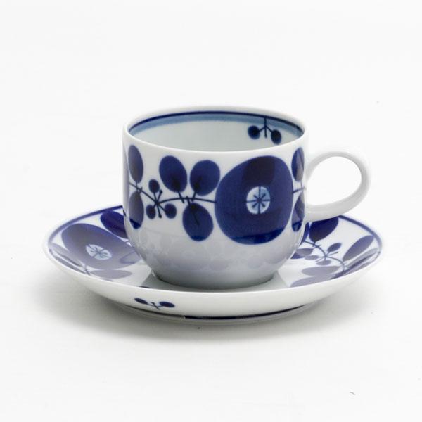 ブルーム コーヒーカップ&ソーサー ペアセット