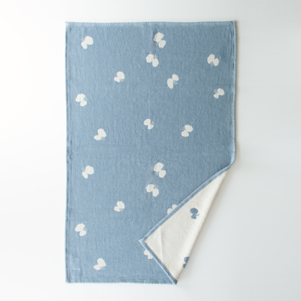 SINGLE CHENILLE BLANKET CHOUCHO BLUE