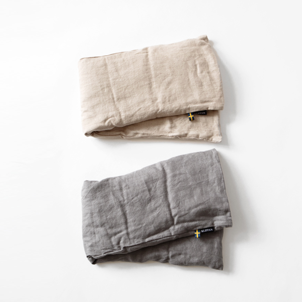 WHEAT NECK PILLOW WASHED LINEN