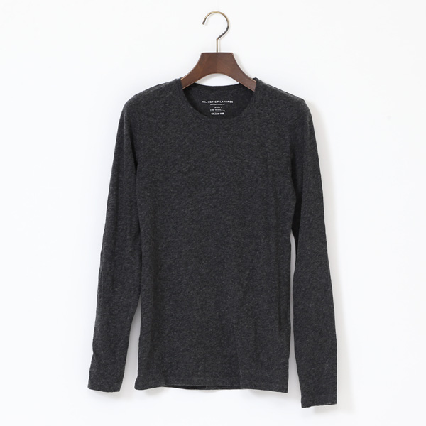 COTTON CASHMERE CREWNECK LONG SLEEVE