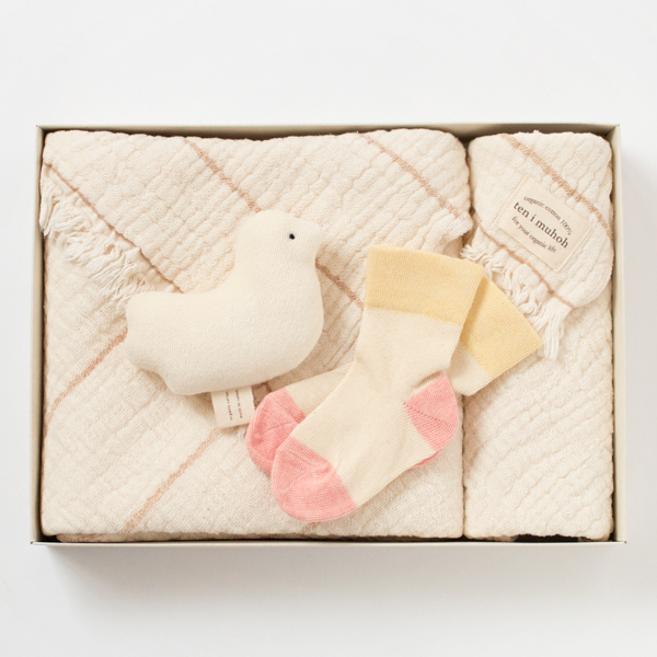 FOUR LAYERS OF GAUZE TOWEL FOR BATH BIRD SET