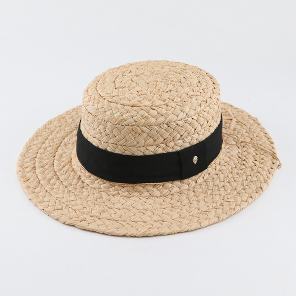 Straw Hat Cataline Natural Black