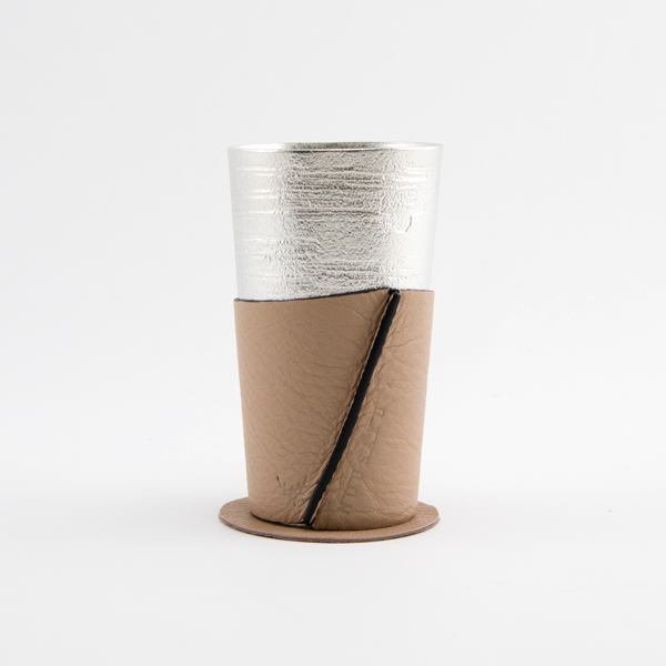 TIN BEER CUP AND SLEEVE SET