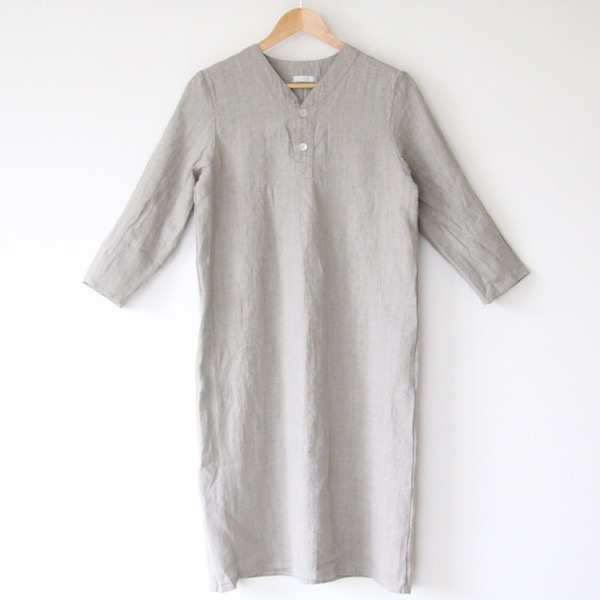 Bespoke Spica linen Night shirt half length