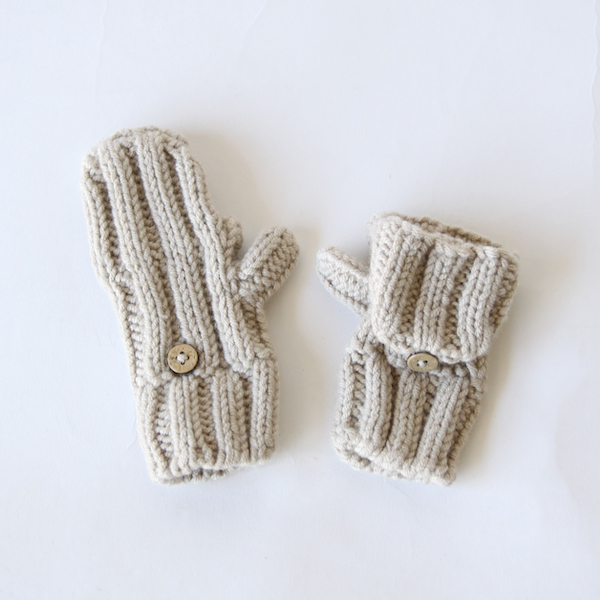 Ribbed Mittens Kids