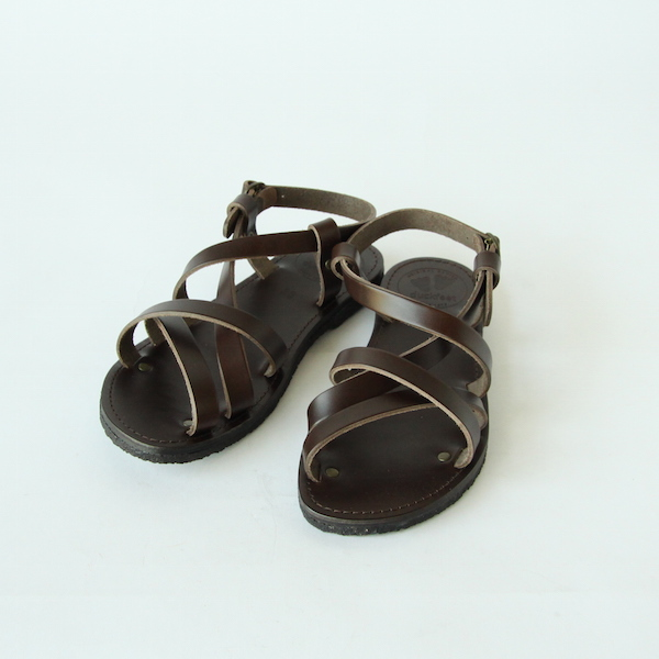 Leather strap sandals chocolate