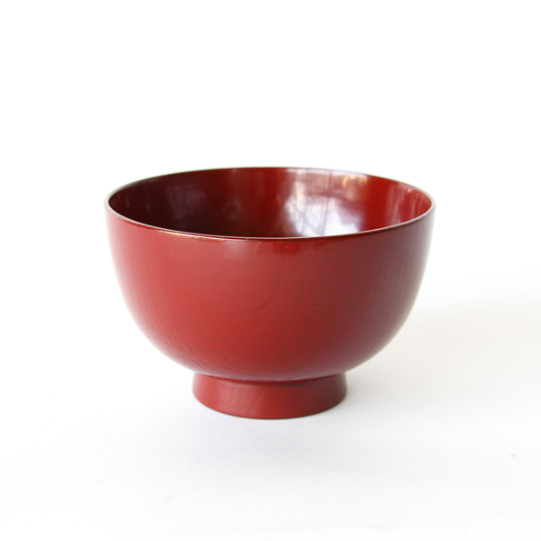 Zelkova Long Life soup bowl Vermilion