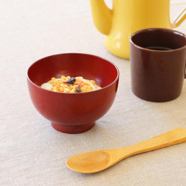 欅 ロングライフ 汁椀 朱