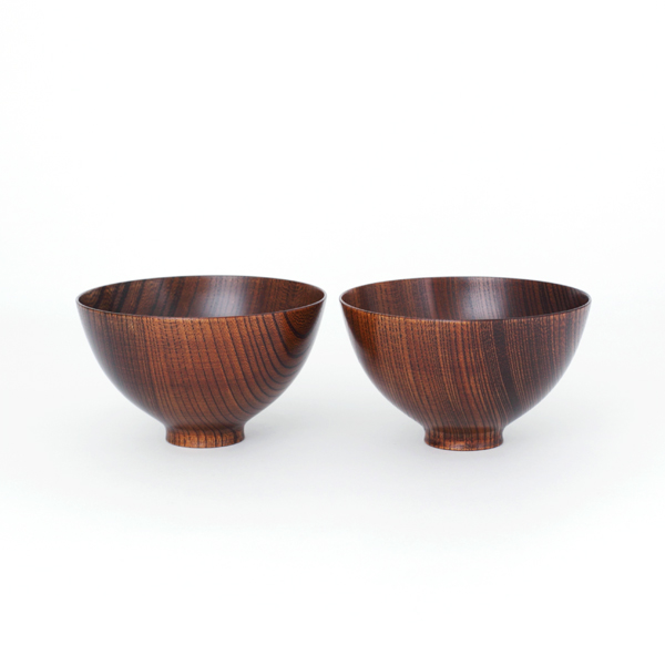 Zelkova free bowl Lacquer Urushi set of 2