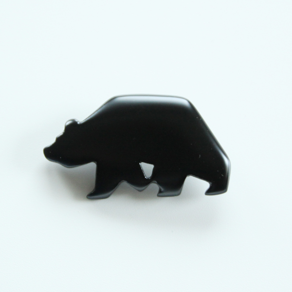 Brown bear brooch