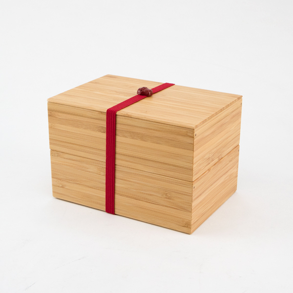TWO-LAYER BAMBOO LUNCH BOX
