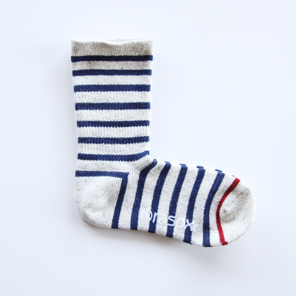 Women Cotton Border Crew Socks