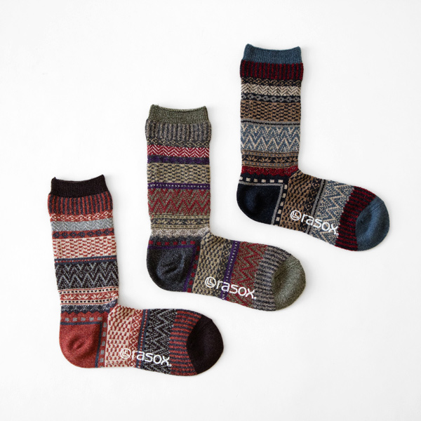 WOMEN FAIRISLE CREW SOX