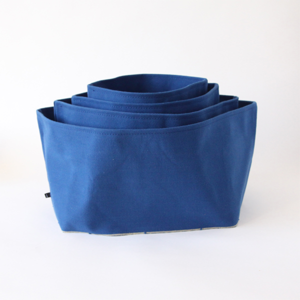 Monoire Indigo cotton canvas box