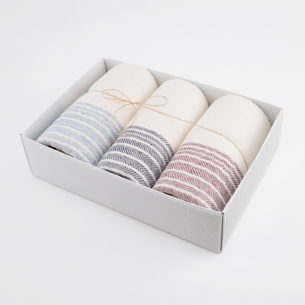 Flax line face towel set
