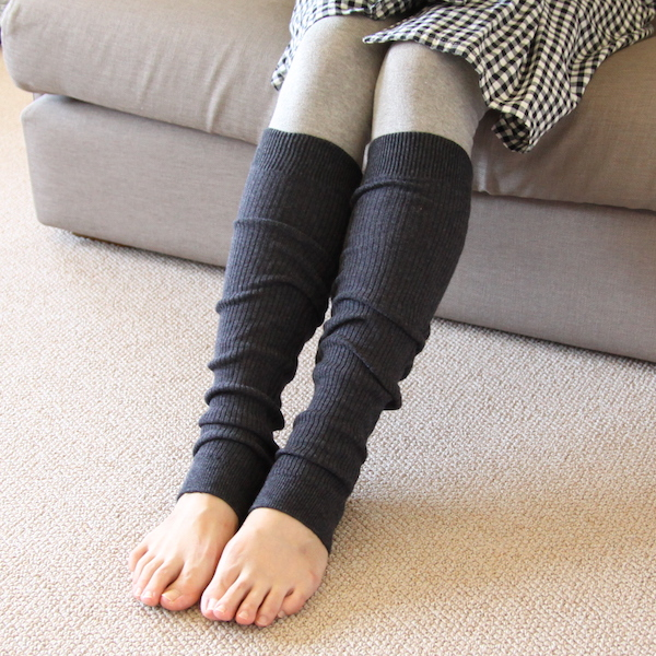Plant dyed leg warmers