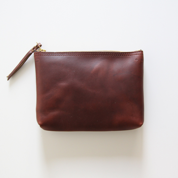 ZIP-TOP POUCH Brown