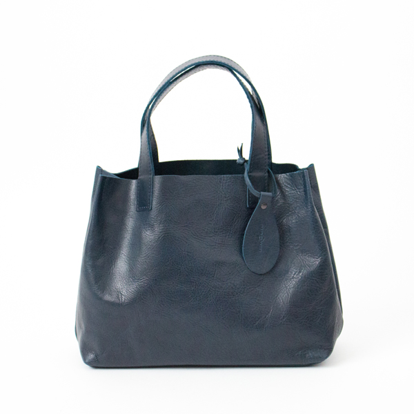 【別注】HORSE LEATHER MINI TOTE(NAVY)