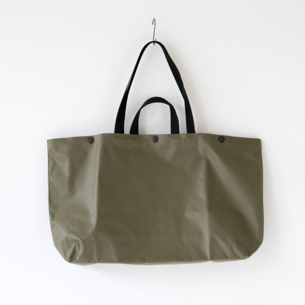 COATED CANVAS GEAR TOTE(OLIVE)