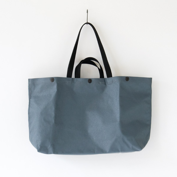 COATED CANVAS GEAR TOTE(BLUE GREY)