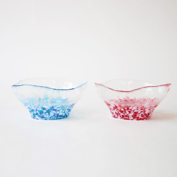 Glass bowl pair set