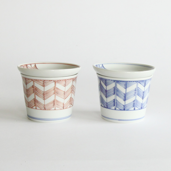 Soba cup Yabane pattern set of 2