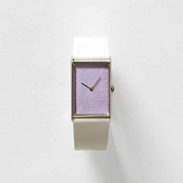 Watch Konairo fujimurasaki silver belt white