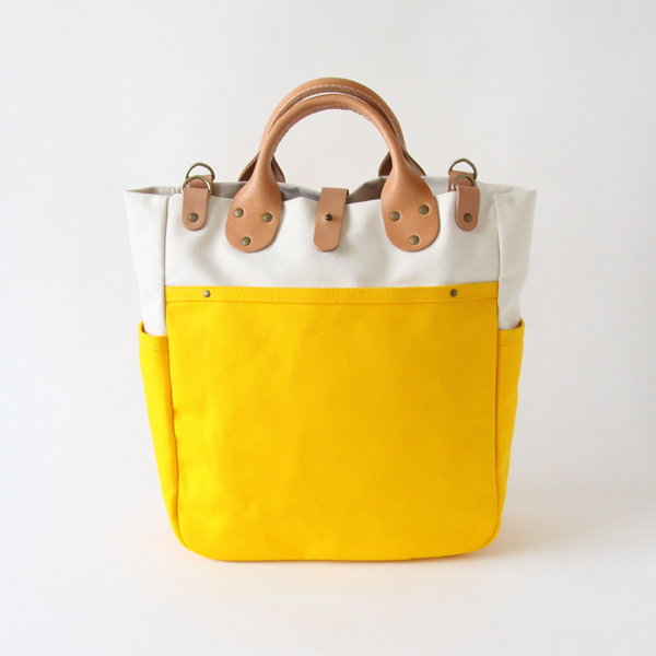 Tote Bag Garrison Carry All Natural Yellow