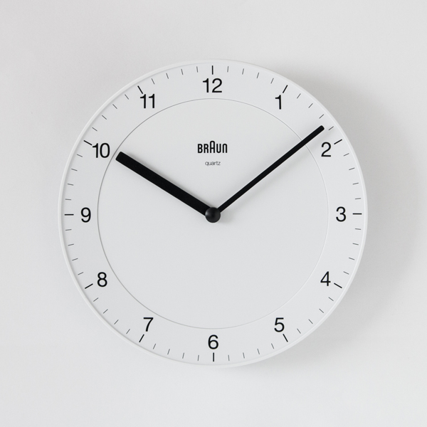 WALL CLOCK BC06 WHITE