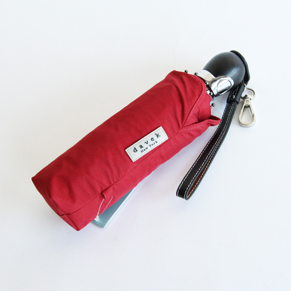 FOLDING UMBRELLA THE DAVEK TRAVELER Classic Red