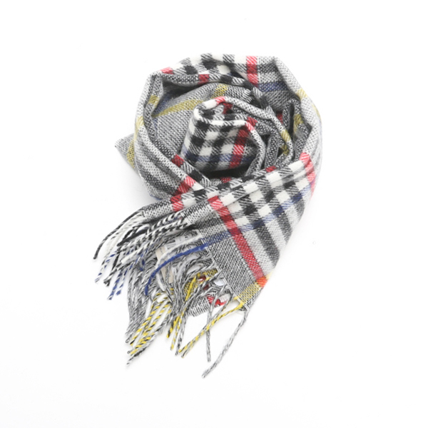 WOOL SCARF GREY WHITE