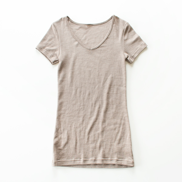 WOOL SILK SHORT SLEEVE