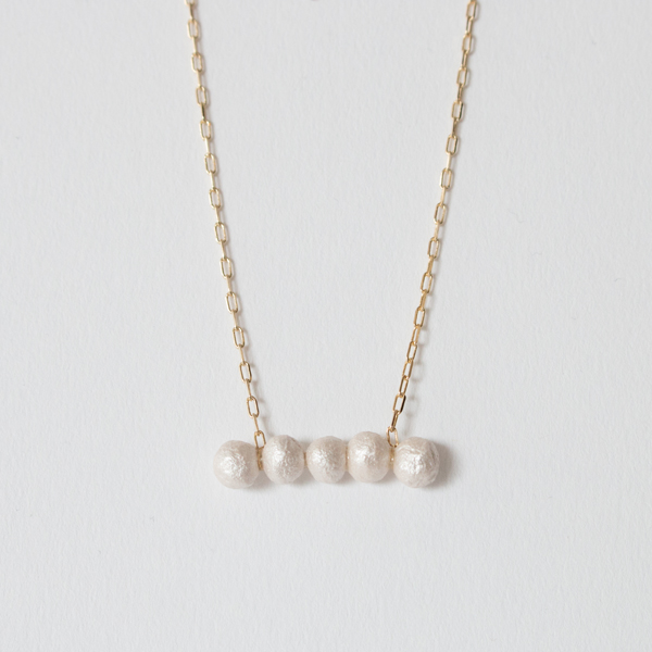 BESKOPE BABY PAPER PEARL STRAND NECKLACE