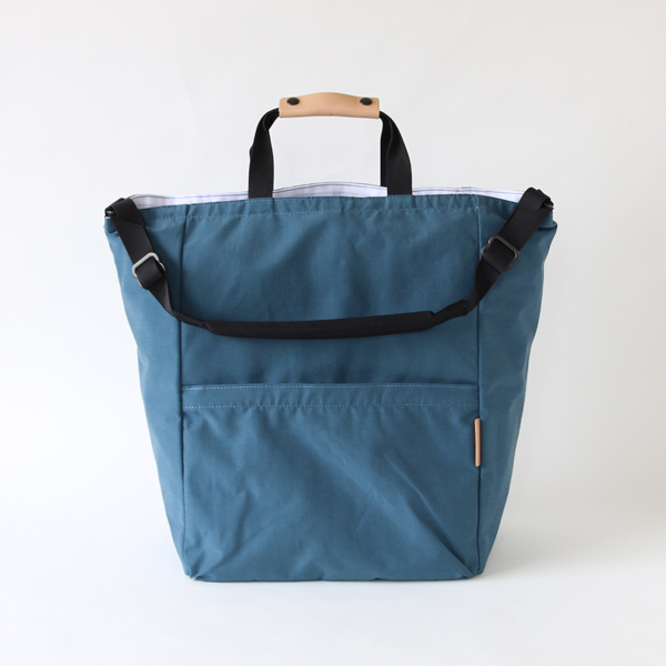 【別注】STAND UP 2WAY TOTE BLUE-GREY
