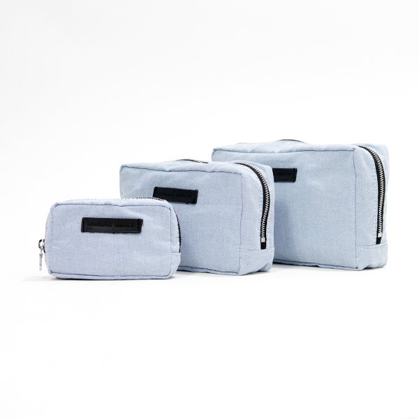【別注】SQUARE POUCH CHAMBRAY