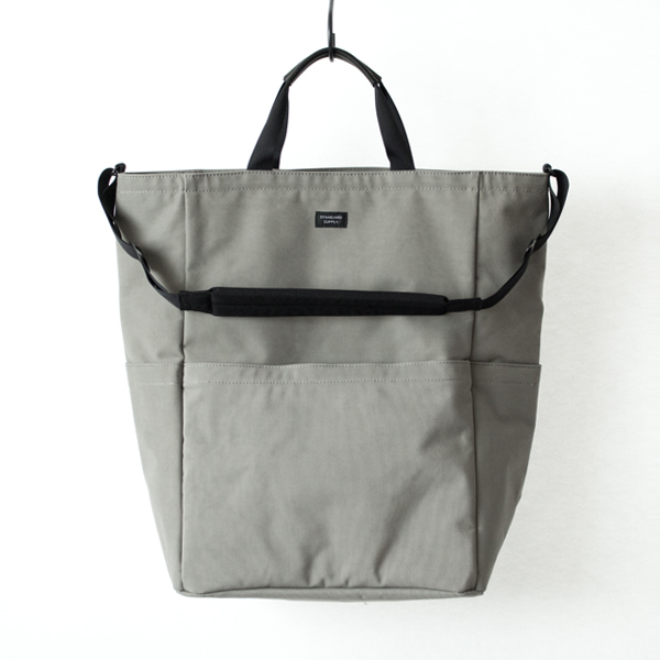 ZIP TOP 2WAY TOTE(GREY)