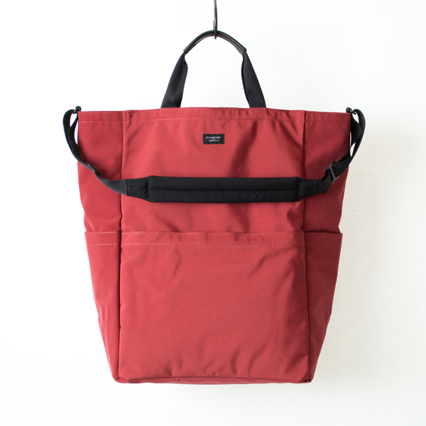 ZIP TOP 2WAY TOTE(RED)